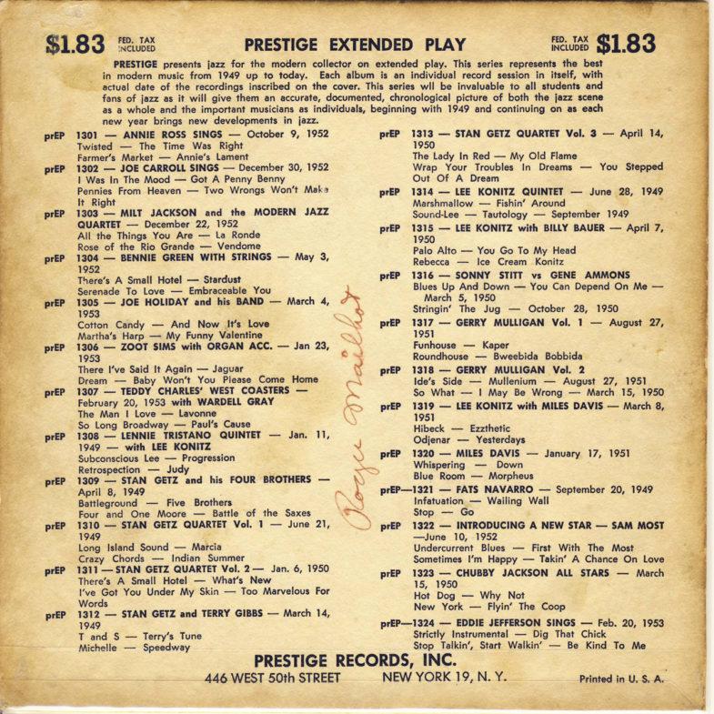 Annie Ross Sings Prestige PREP1301-2