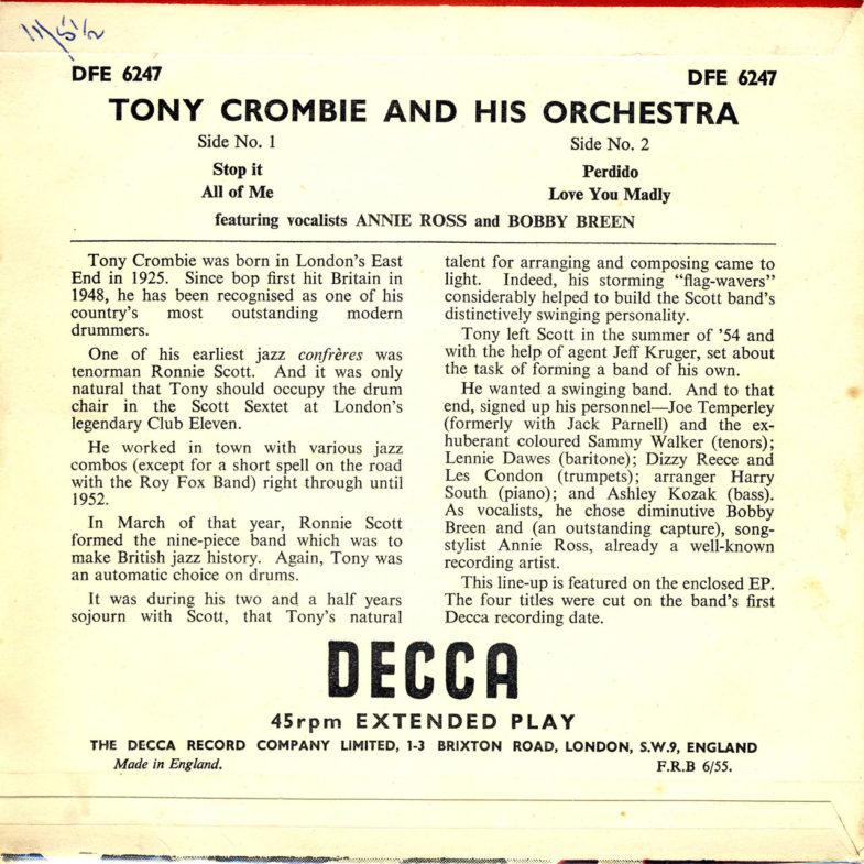 Annie Ross Tony Crombie DECCA DEF6247-2