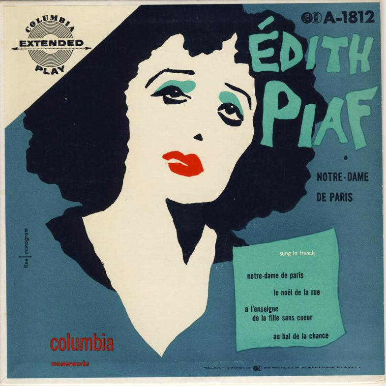 Edith Piaf Notre Dame De Paris F.Columbia A1812-1