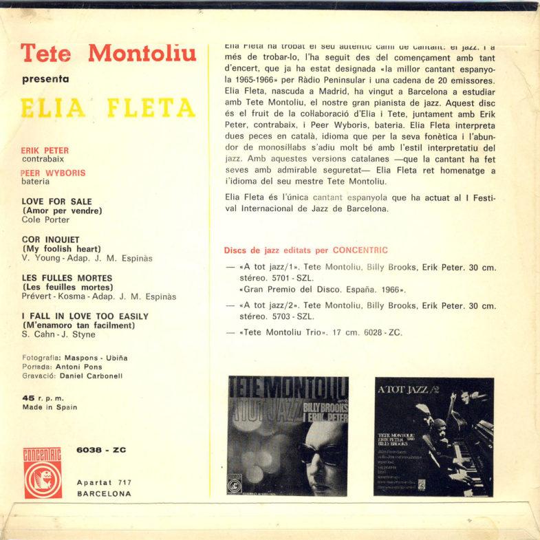 Elia Fleta Tete Montoliu Concentric 6038ZC-2