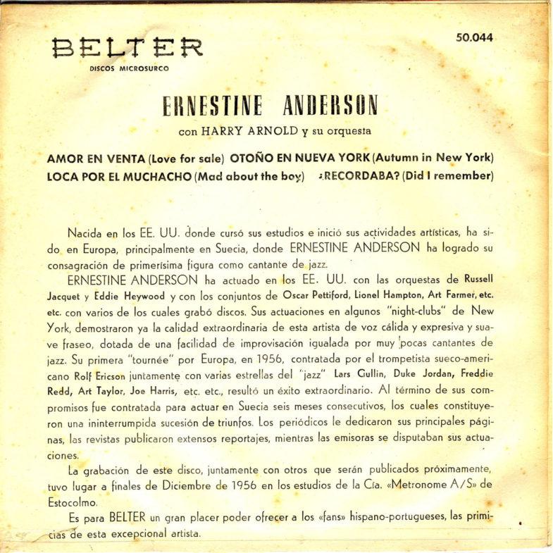 Ernestine Anderson Belter 50.044-2