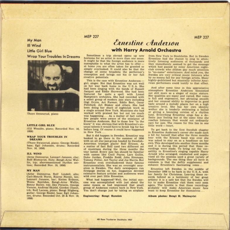 Ernestine Anderson Metronome MEP227-2