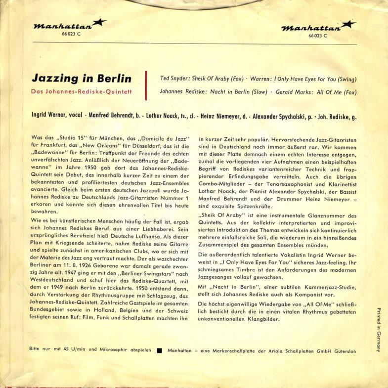 Inge Werner Jazzing in Berlin Manhattan 66023C-2