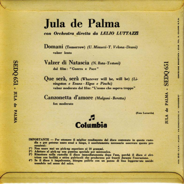 Jula de Palma It.Columbia SEDQ651-2