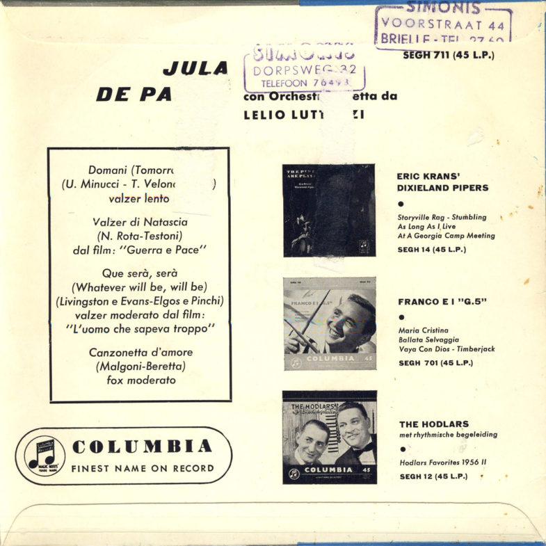 Jula de Palma It.Columbia SEGH711-2