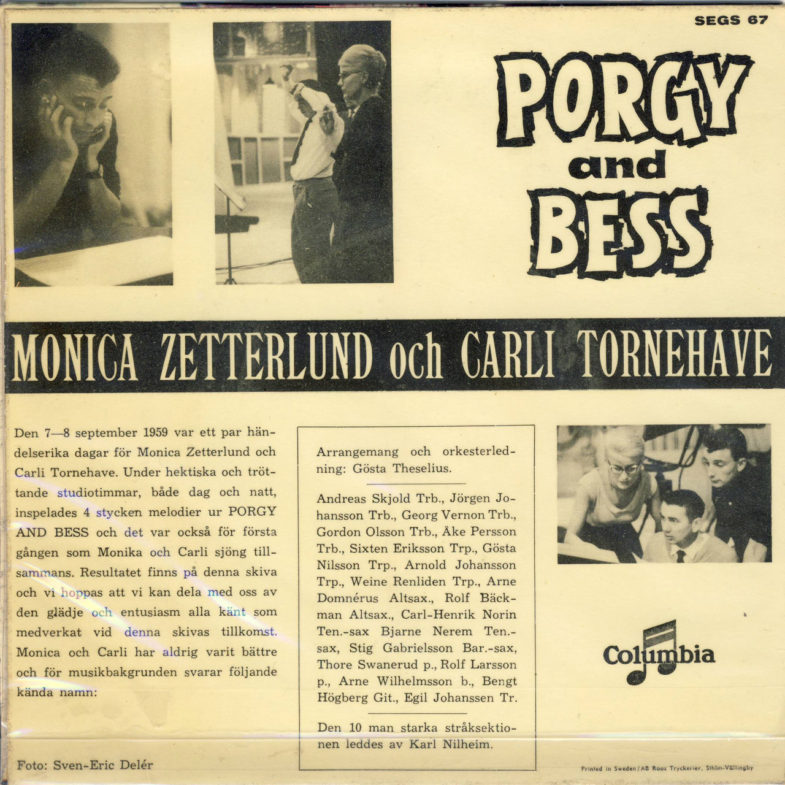 Monica Zetterlund Swedish Porgy and Bess Columbia SEGS67-2