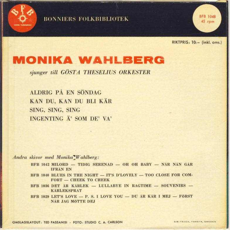 Monika Wahlberg Bonniers BFB1048-2