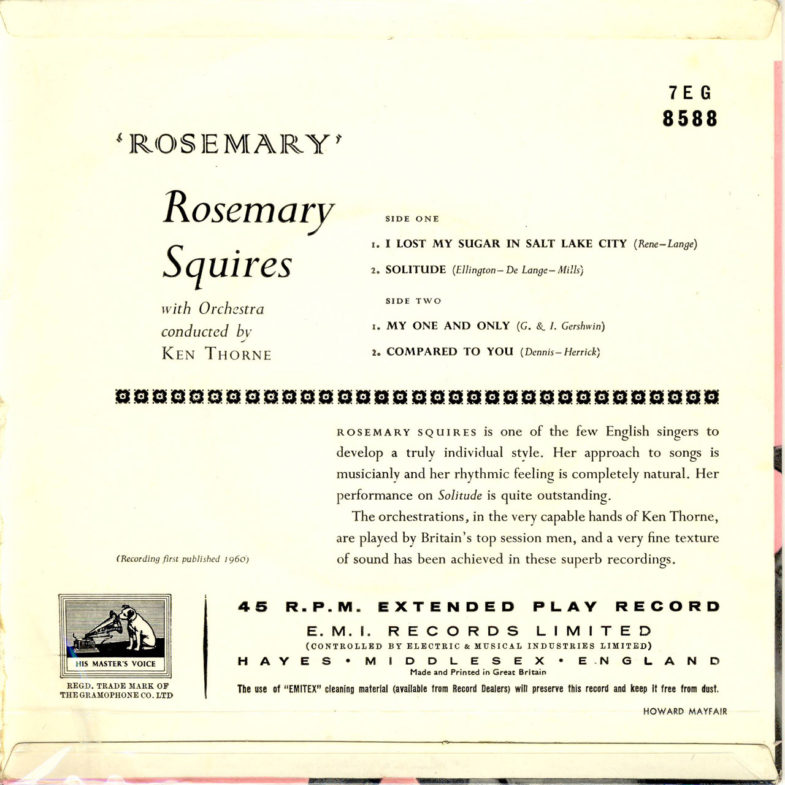 Rosemary Squires Rosemary H.M.V. 7EG8588-2