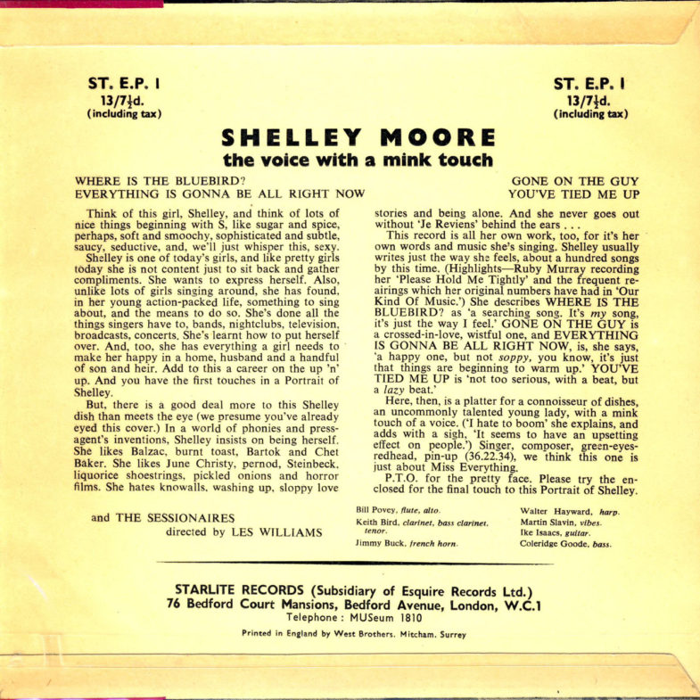 Shelley Moore Portrait of Shelley Starlite EP7-2